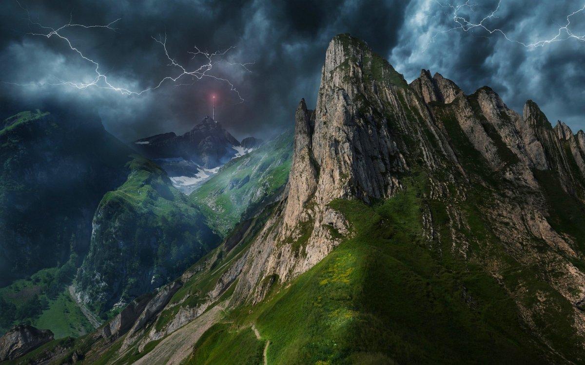 Картинки с изображением грозы в горах