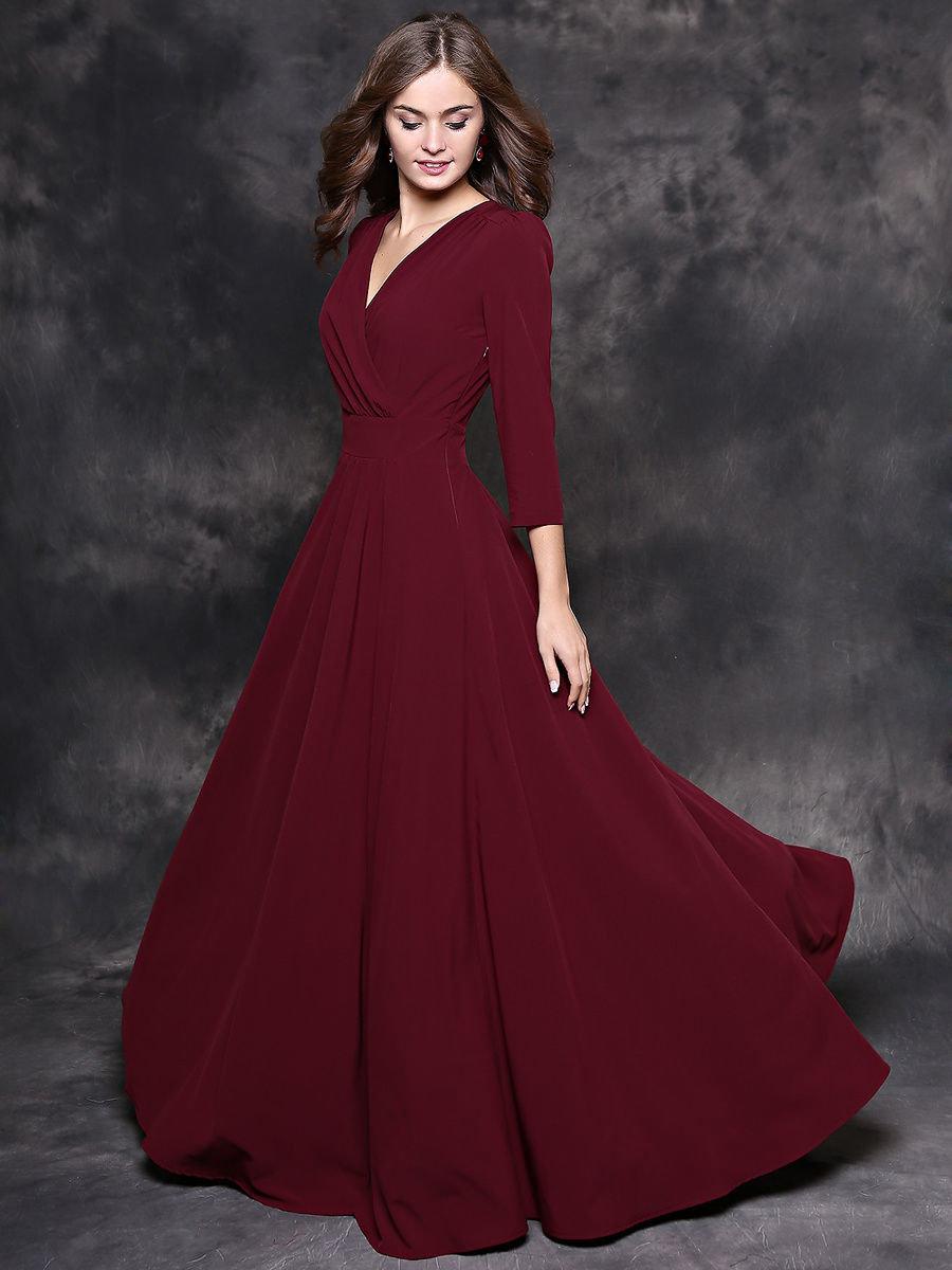 Картинки бордовых платьев