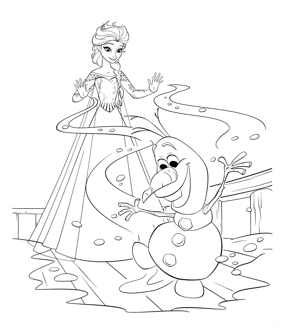 «Раскраска Эльза и снеговик Олуф» — карточка пользователя ...
