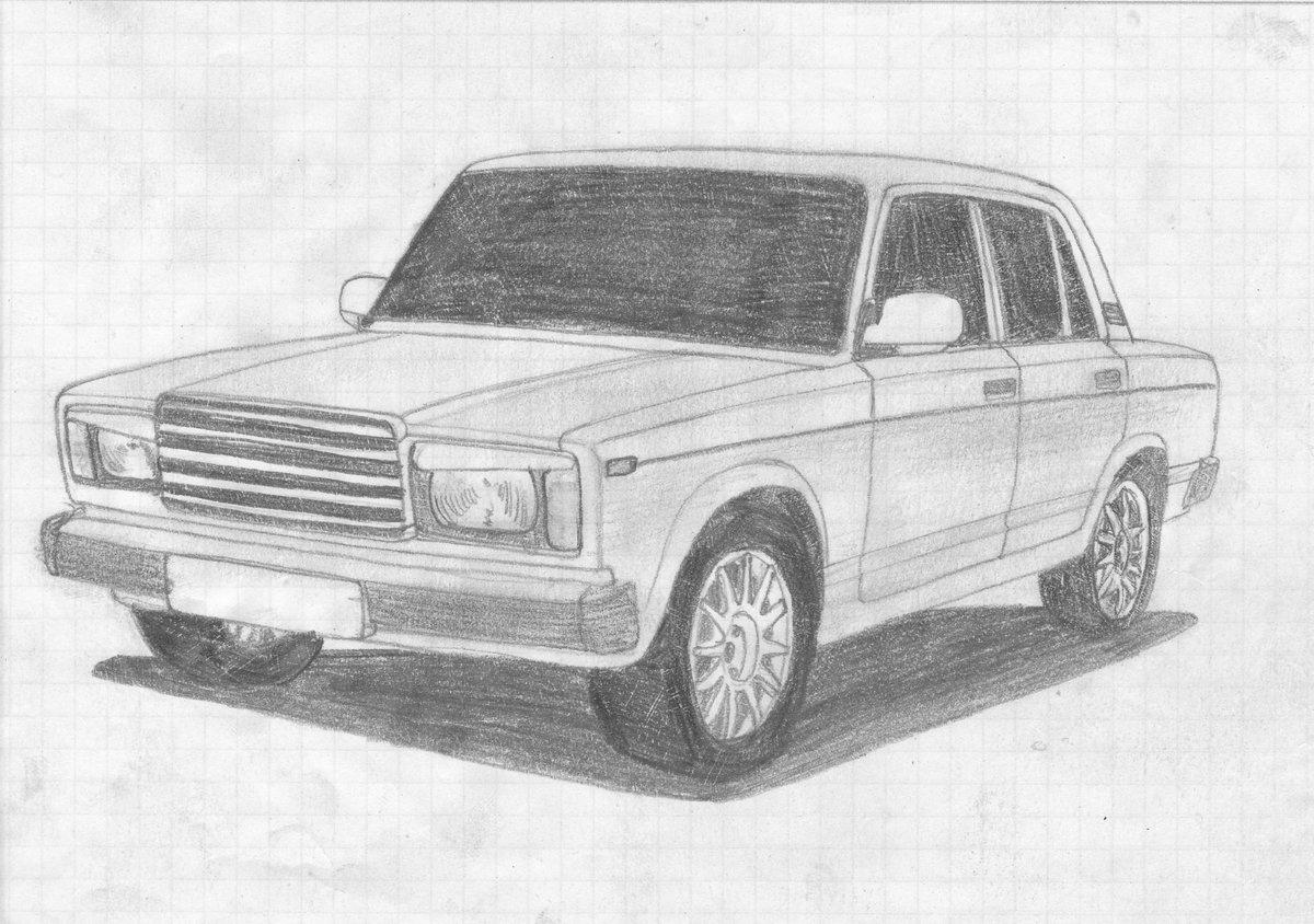 картинки карандашом наши русские машины сама буду
