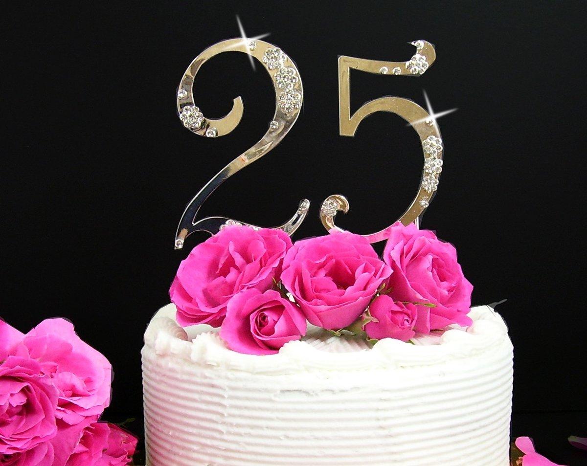 День рождения, юбилейные открытки на 25 лет