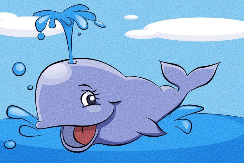 Картинка китов прикольная, имя дима