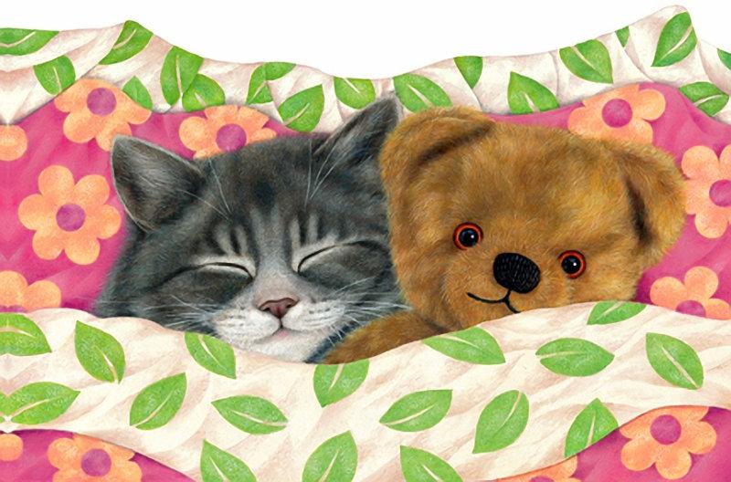 Открытки мишки и котики, открытка белорусском
