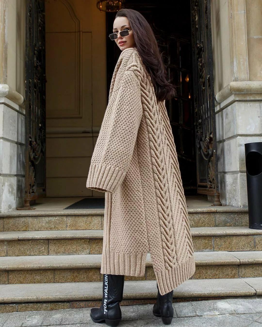 Пальто вязание картинки