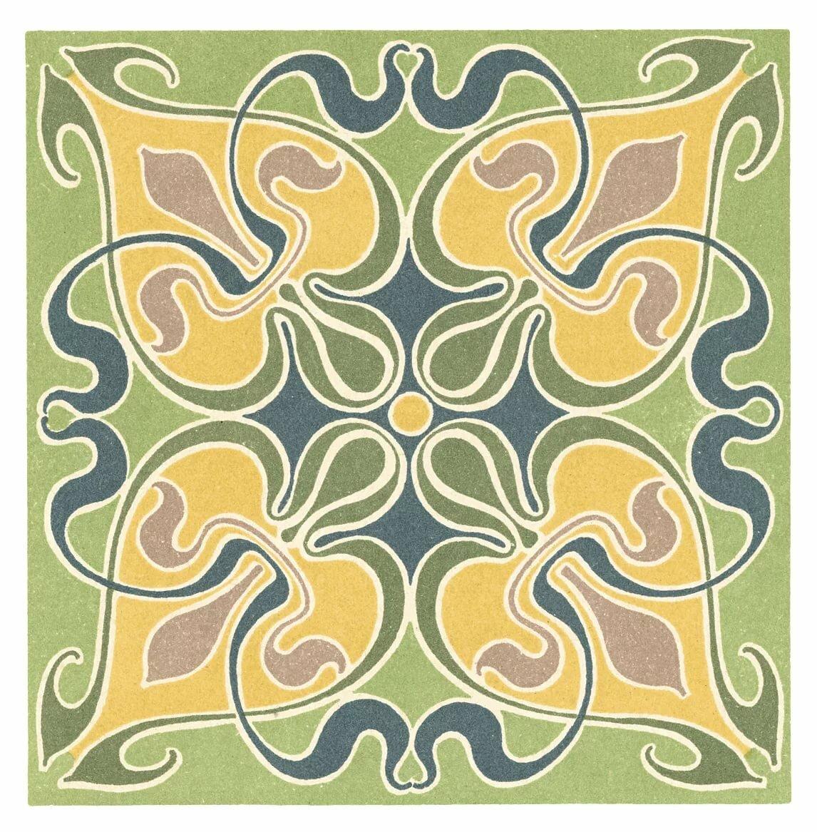 Растительный орнамент картинки в квадрате