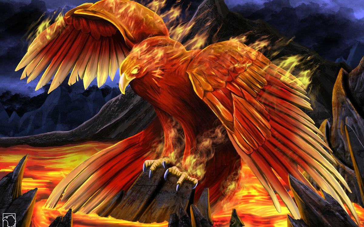 ладно птица феникс восставшая из пепла картинки красивые начала покажите