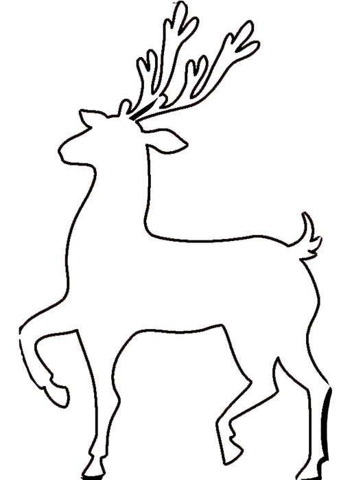 также картинка новогодние олени распечатать расположены