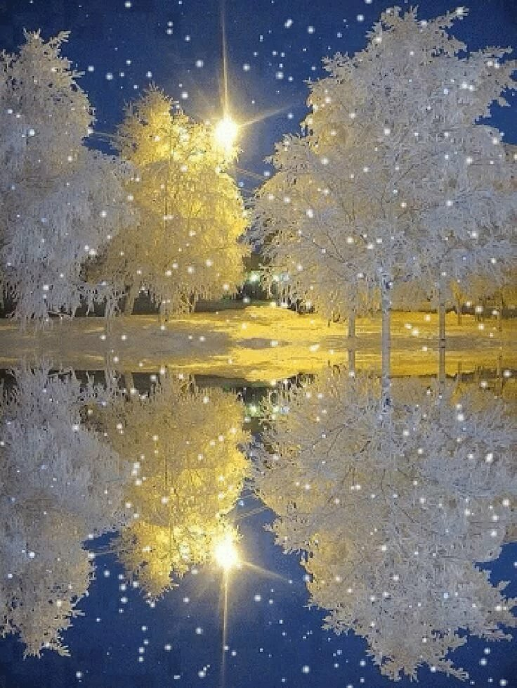 Картинки снегопад анимационные