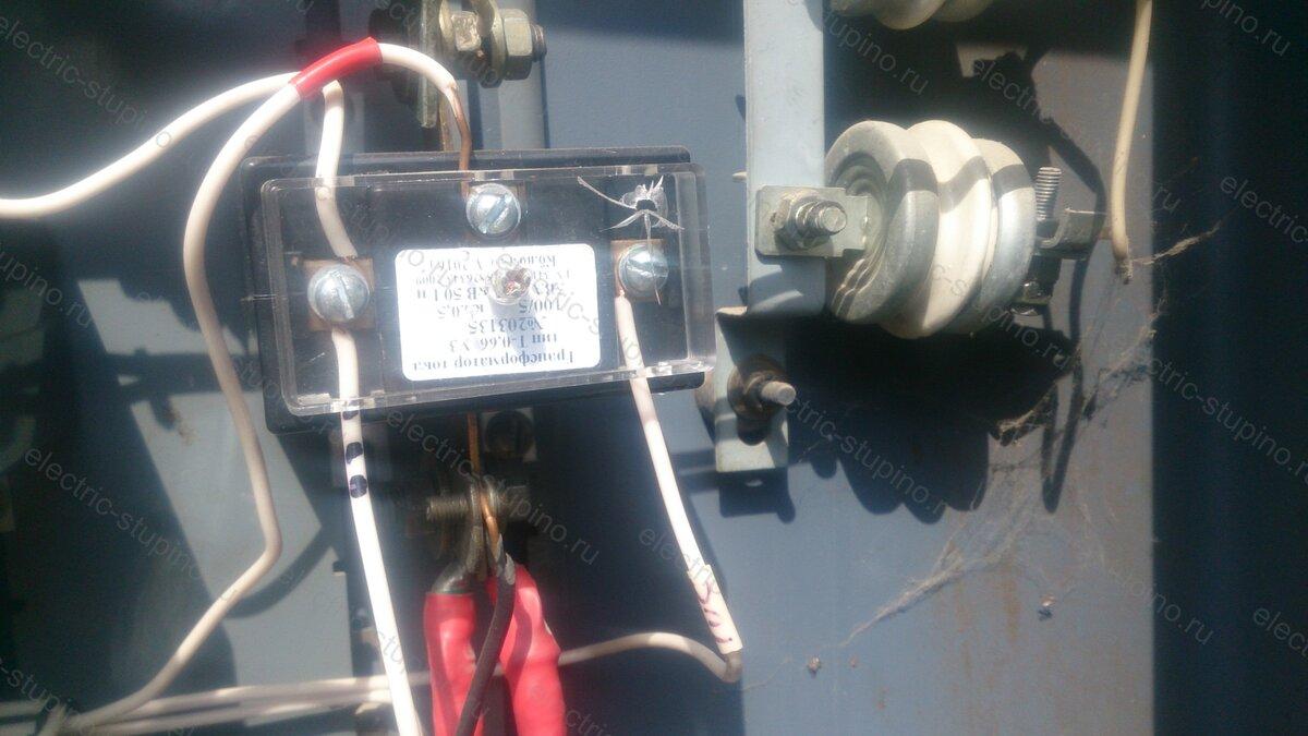 Монтаж трансформаторов тока