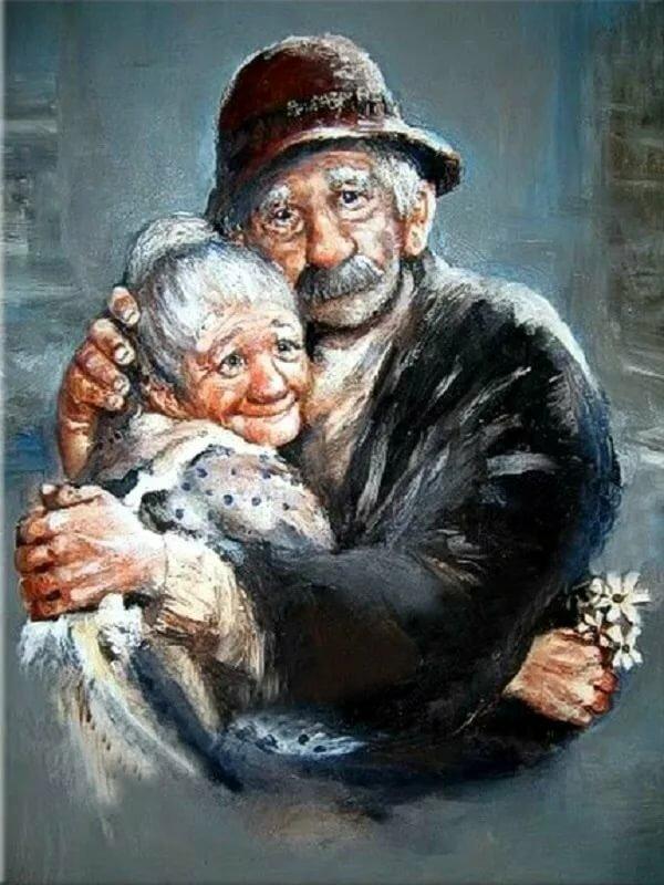 рисунки стариков и старушек них