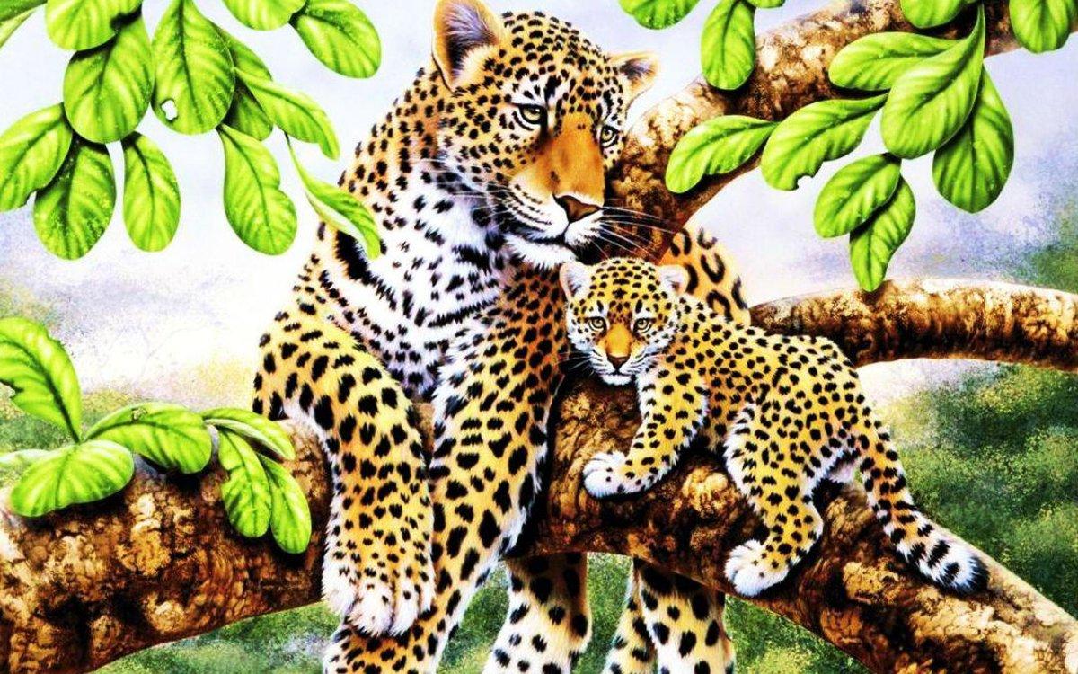 Открытки с природа с животными, картинки