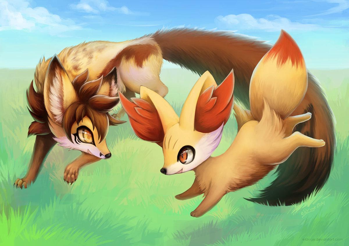 Покемоны картинки лис