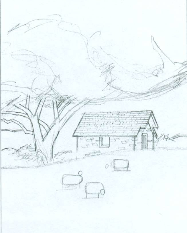 Нарисовать картинки природу карандашом поэтапно