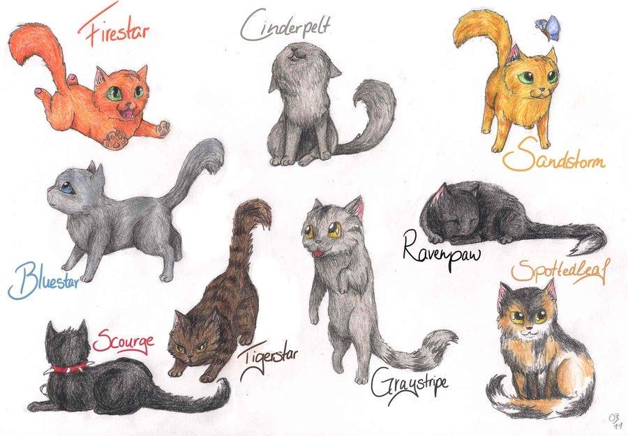 коты воители герои книг с картинками действия атрибуты