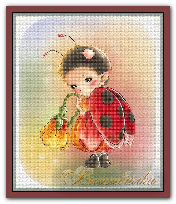 """Скачать схему вышивки """"Ladybug Sprite"""" Lena Lawson"""