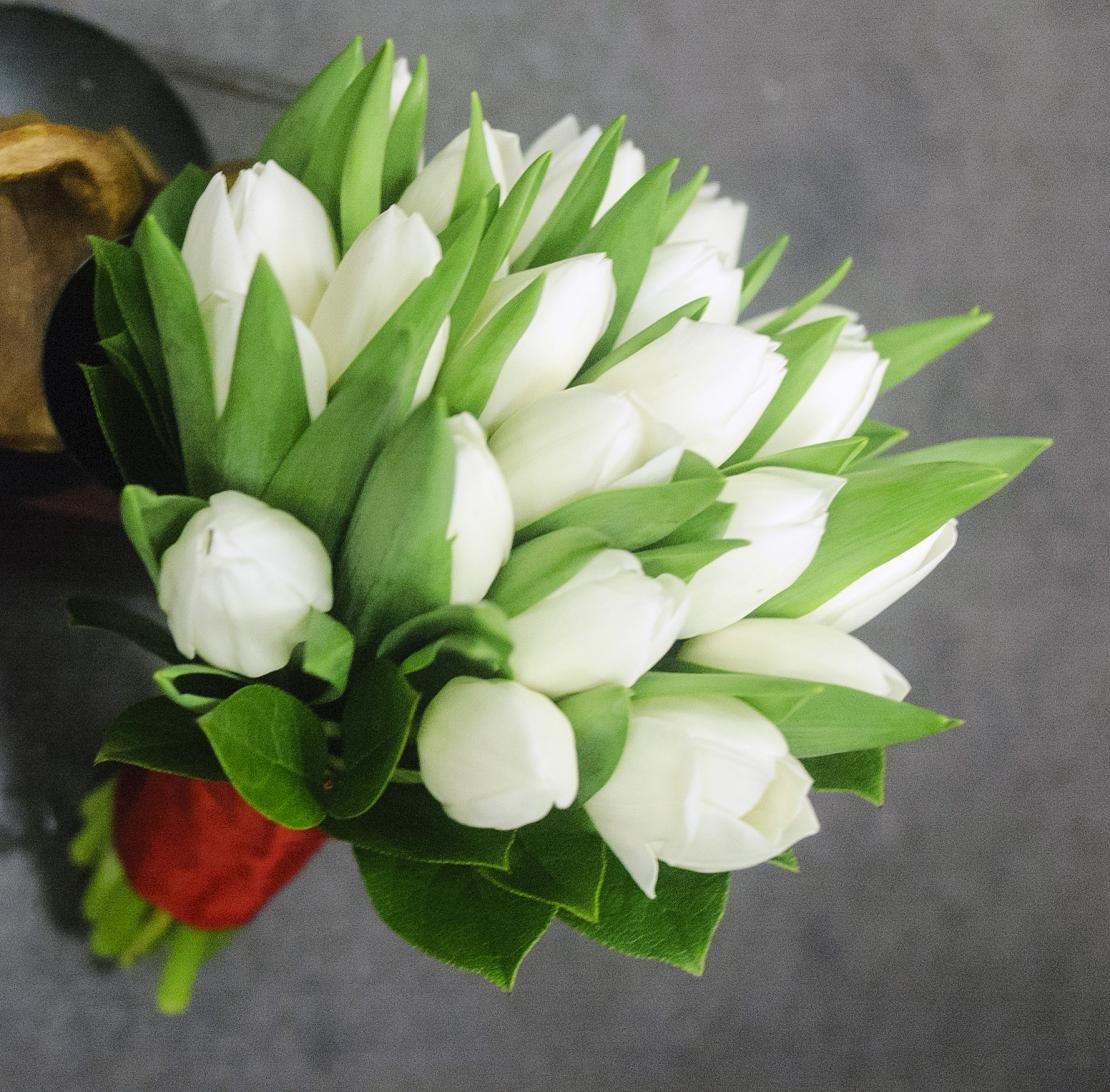 Зимний свадебный букет тюльпанов купить украина, магазин