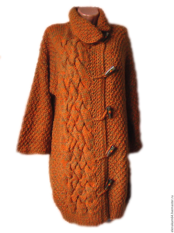 Вязание в картинках пальто