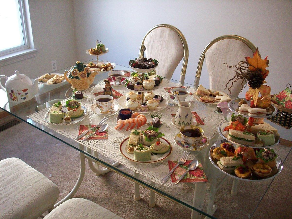 картинки стол накрыт для чаепития