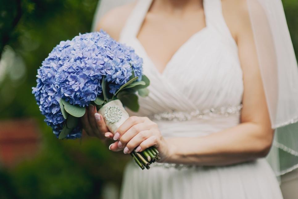 Свадебные букеты из гортензии фото