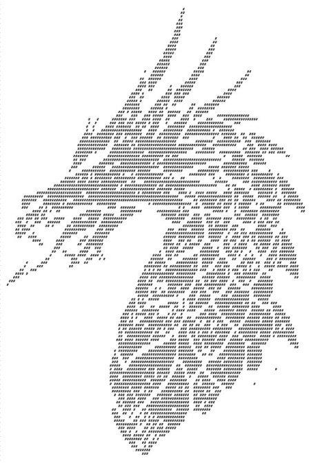 Рисунки из клавиатурных символов крест