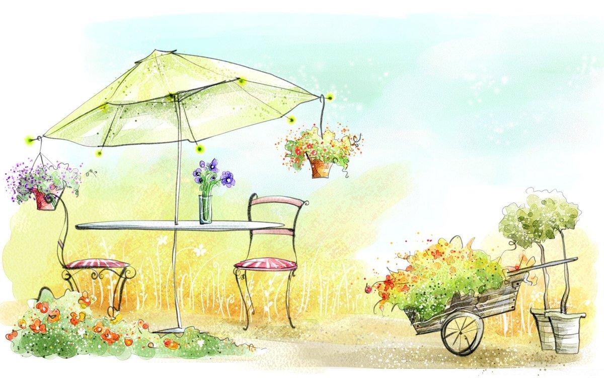 Нарисовать открытку лето, сделать картинку