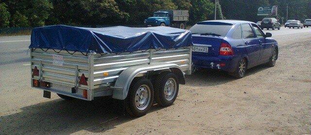 картинка легкового автомобиля с прицепом таверны привозят