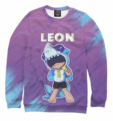 коллекция толстовка Brawl Stars Leon детские 3d