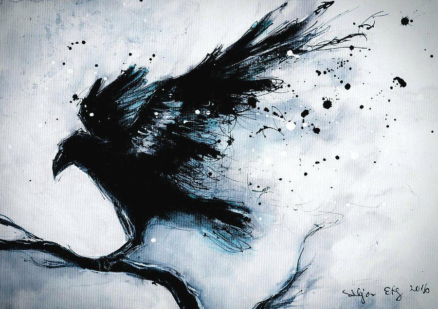 дочки, тогда картинки абстракции ворона девушки все