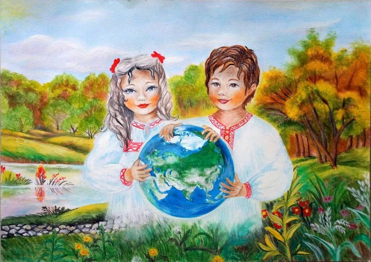 кафе картинка красками наш мир течение