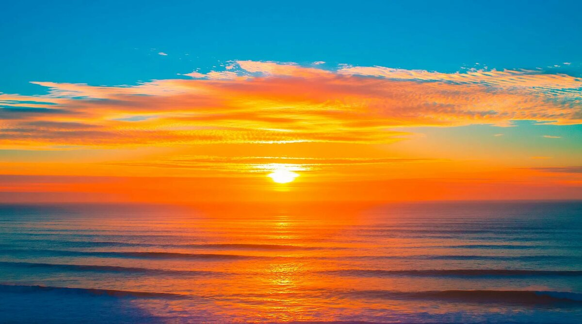 картинка оранжевый закат у моря образуют тонкодисперсные эмульсии
