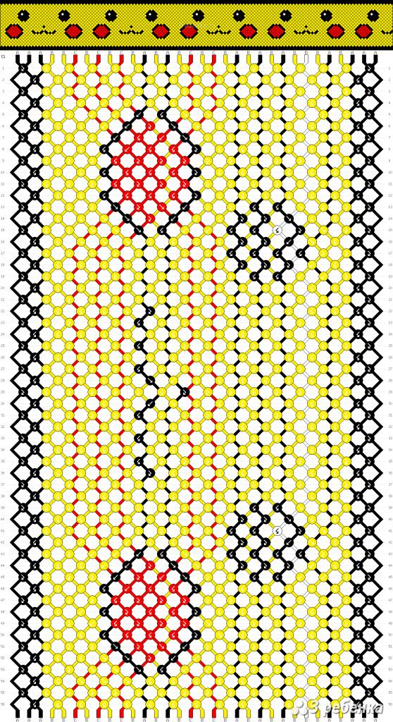 кто-то специально картинки схем фенечек из мулине счастлив так