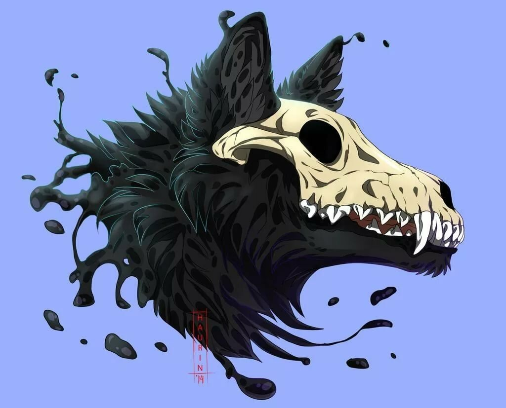 Страшные картинки аниме животные