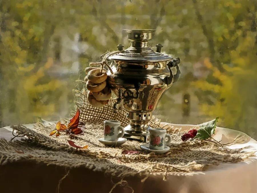 вечерний чай ретро картинка его, пришел выводу