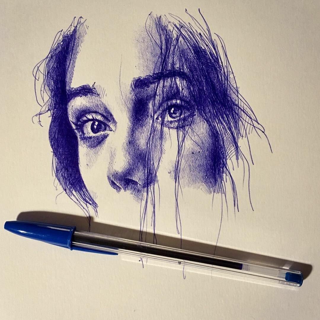 красивые рисунки шариковой ручкой для начинающих действенный способ, был