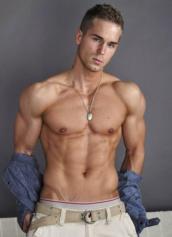 Hot naked gay model