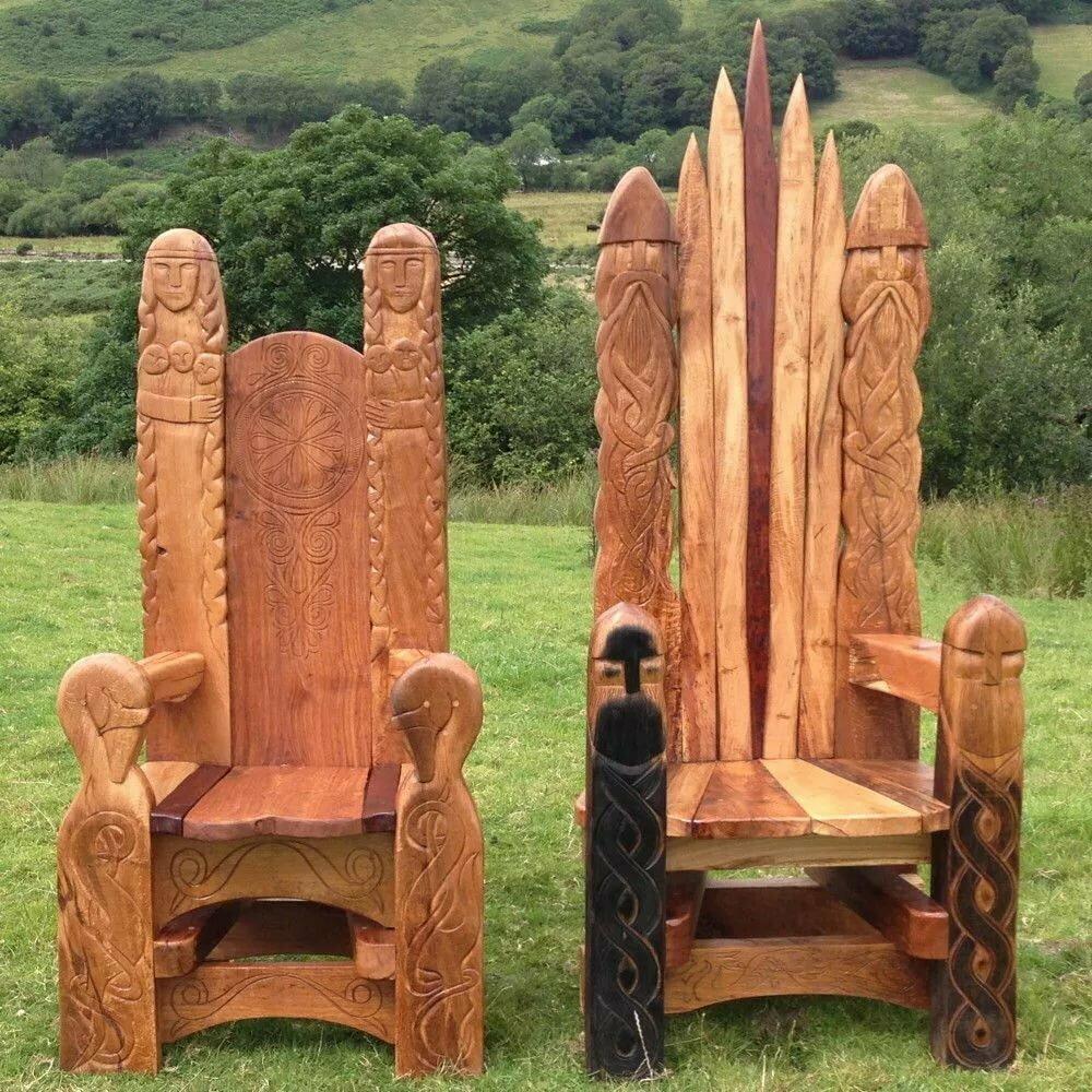 для водонагревателя необычные стул трон из дерева фото абрахамс