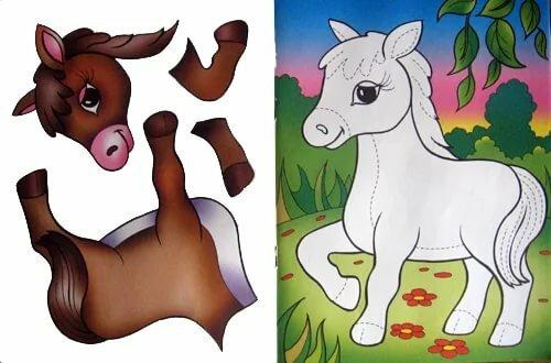 Картинка лошади из бумаги