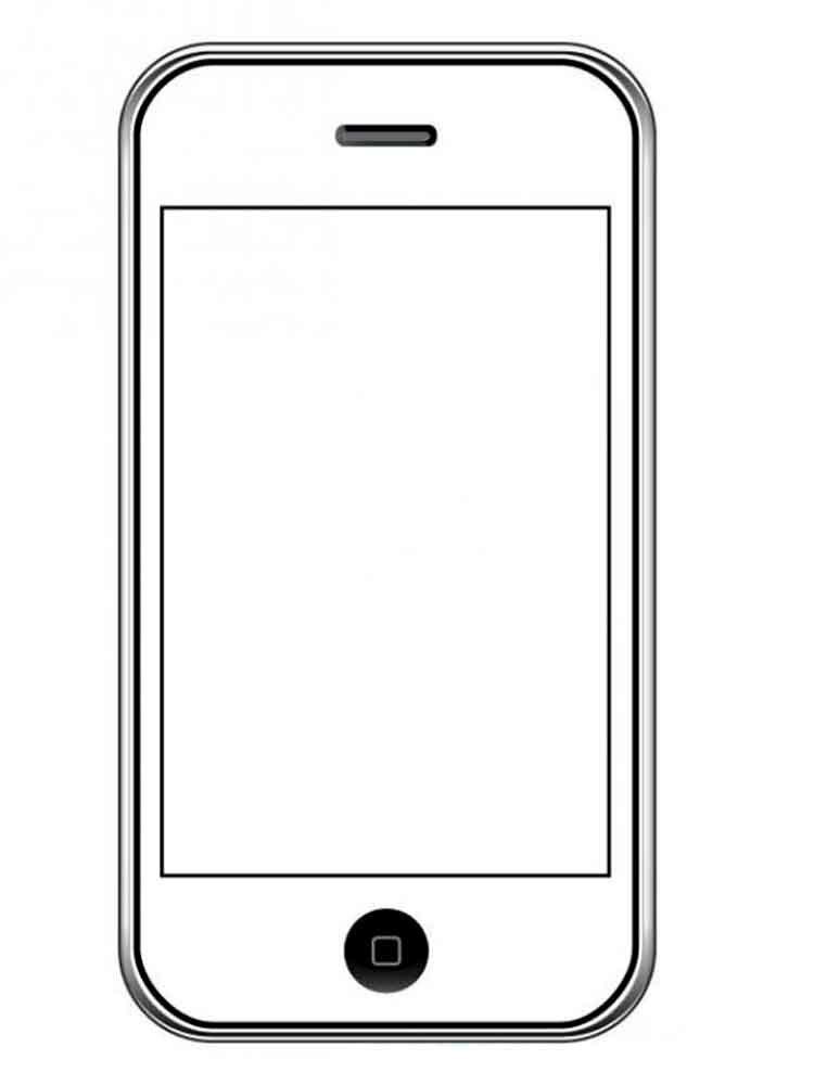 Распечатать раскраски телефона айфон