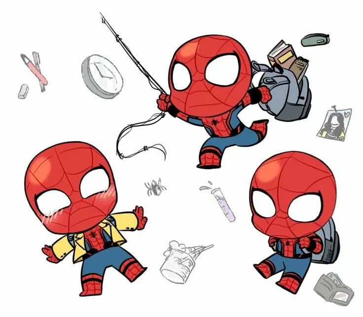 мультяшные герои марвел картинки и карандашом каждый миг