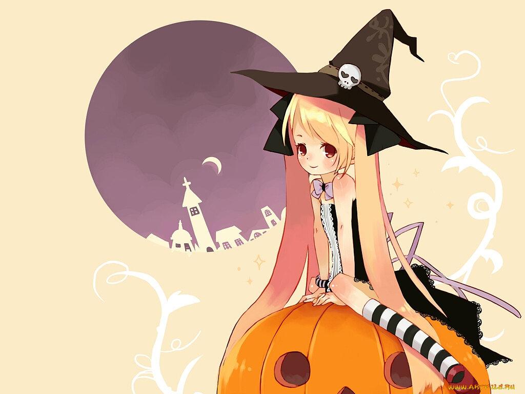 Аниме картинки к хэллоуину