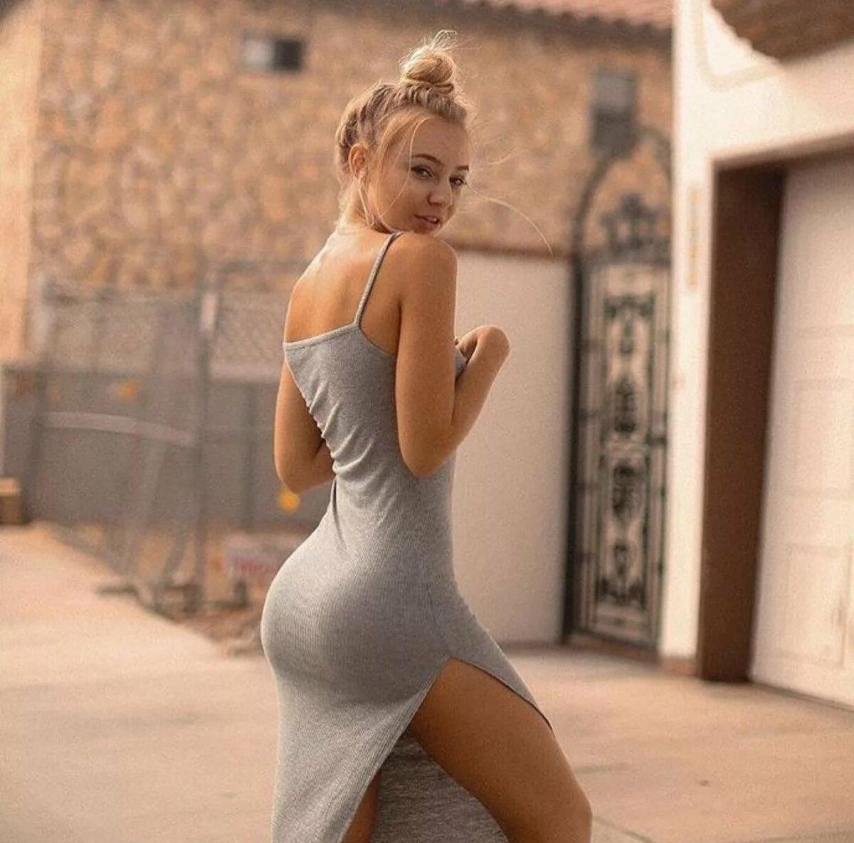 Young blond butt