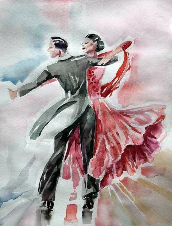 Картинка девушка танцует вальс