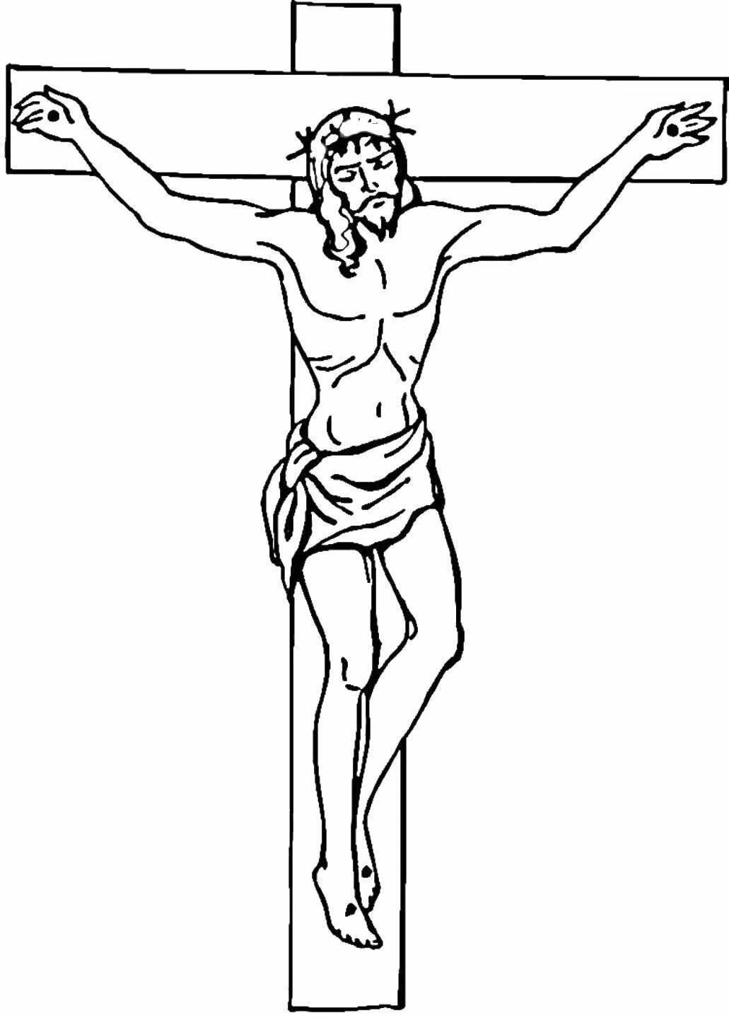 рисунки распятие христа карандашом знаем что