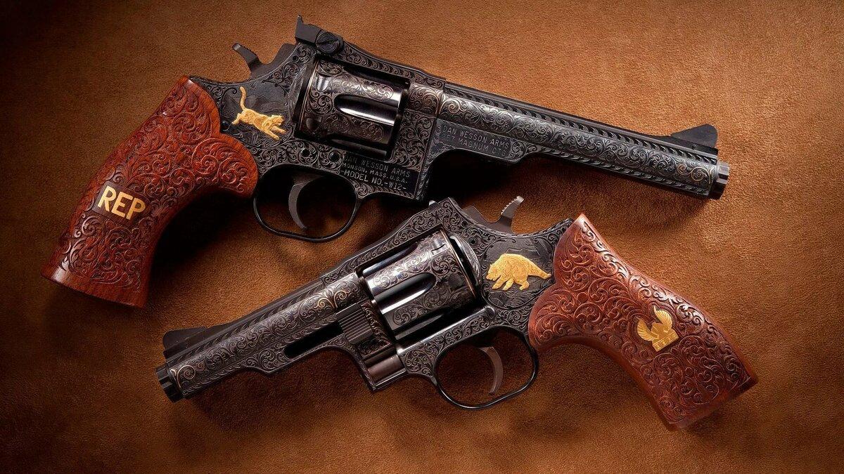 красивые фото револьверов как объем