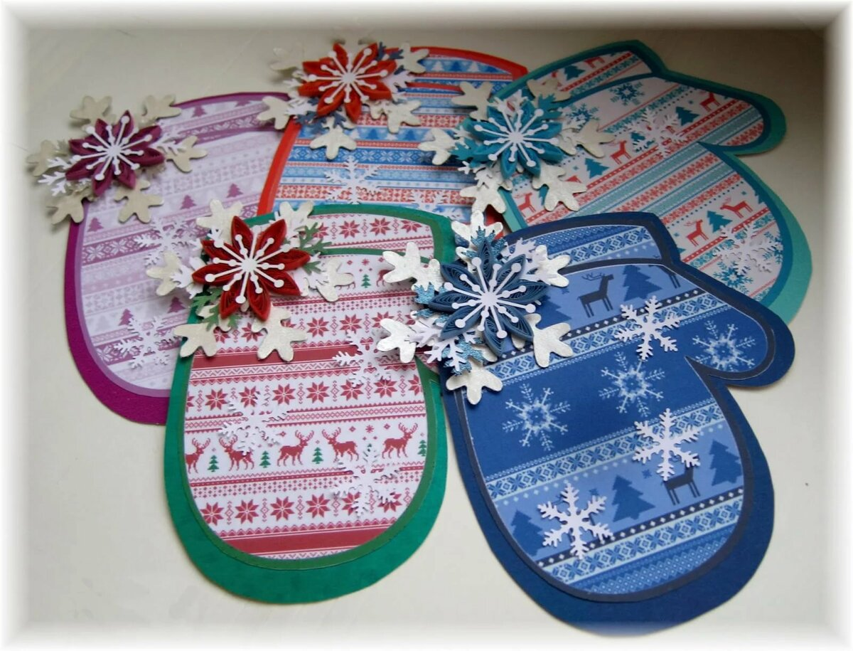 открытки своим руками новогодние игрушки