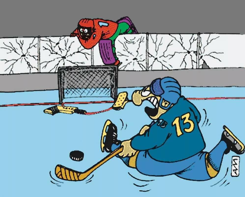 смешные картинки про хоккеистов светлый