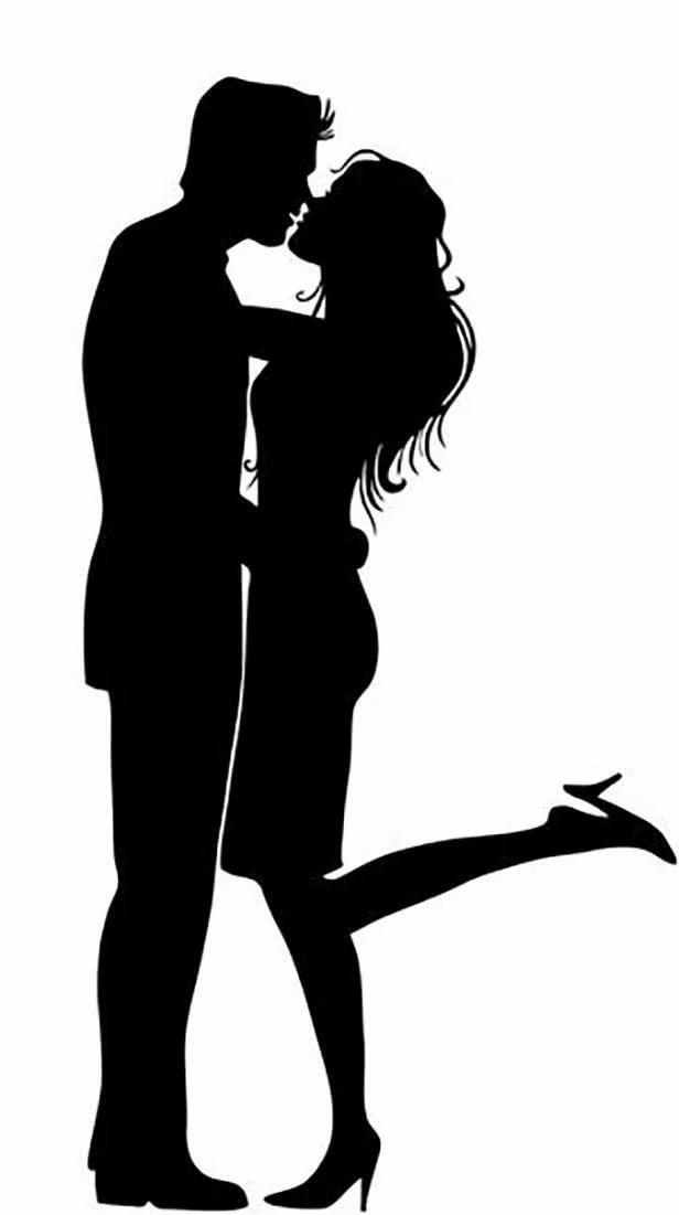 Картинки с мужчиной женщиной силуэты