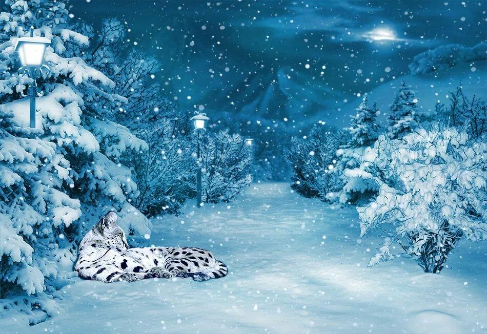 живые картинки с анимацией про зиму для