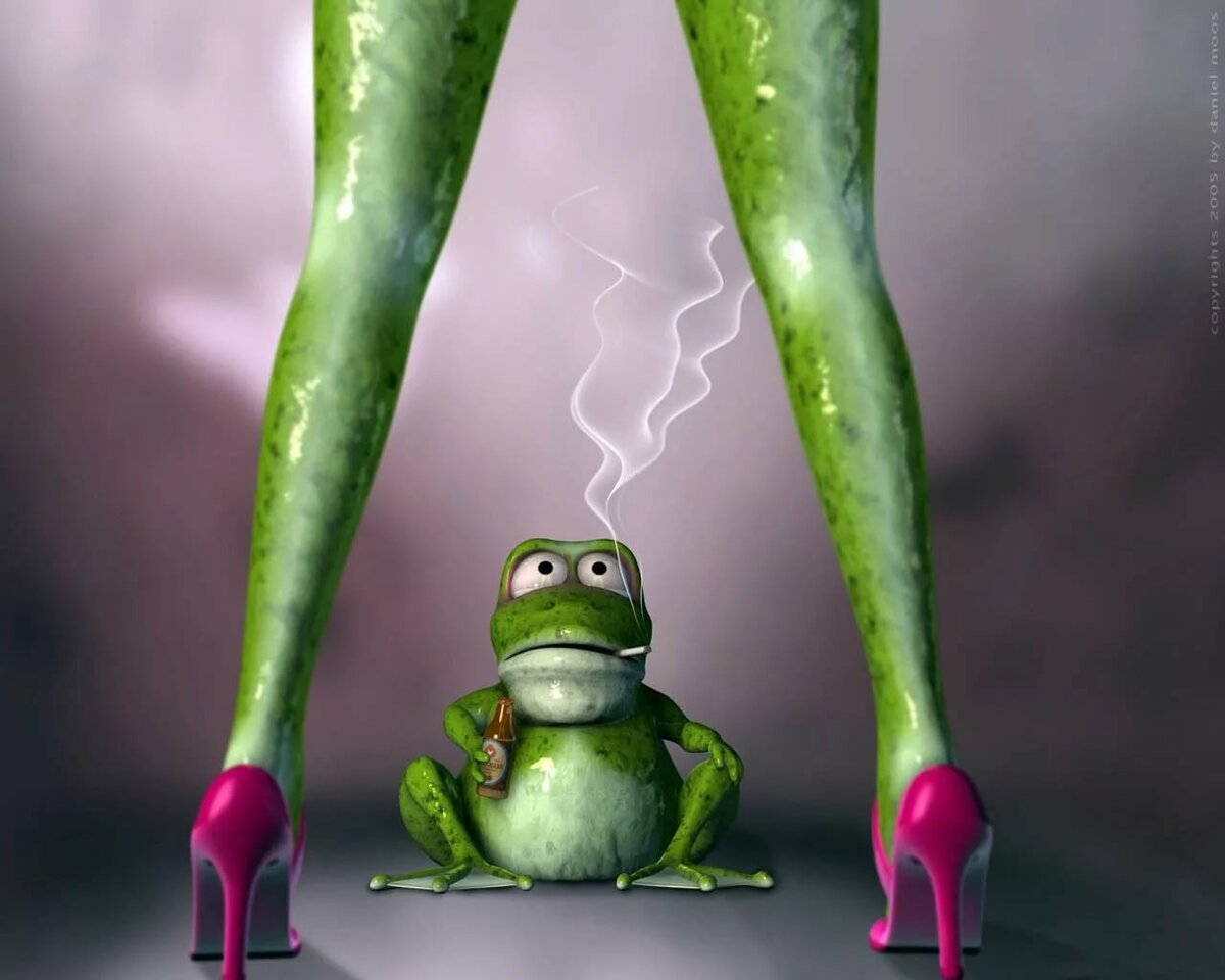 Sexy girl frogs