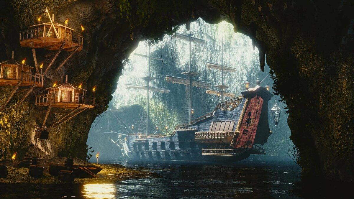 Пиратский корабль фото высокого разрешения
